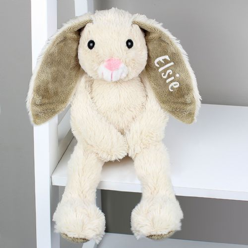 Personalised Cuddly Bunny Soft Toy Gift - Baby's First Easter, Christening & New Baby Gift